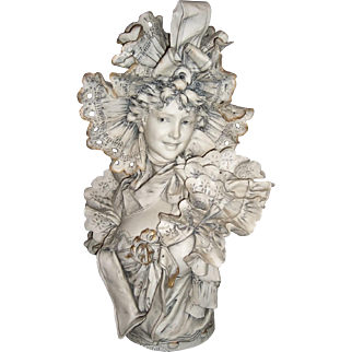 """RARE  Antique 20"""" Bisque Bust by Royal Dux - 19th Century - Layaway"""
