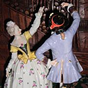 """Romantic Dresden Figurine 10"""" Tall - Volkstedt Layaway!"""