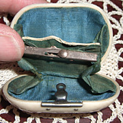 1800's Antique Shell Purse for French Fashion Doll with Compartments