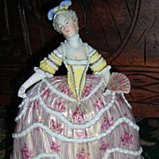 Lovely Dresden Figurine in Crinoline Dress
