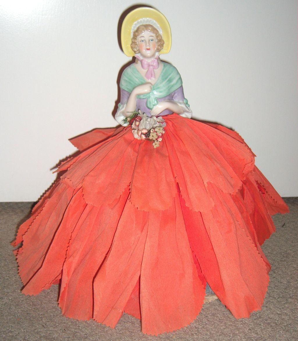 "14"" Porcelain Figurine - Dresden Half Doll"