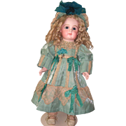 "19"" Antique Doll by Jumeau - Stunning Couture Dress - Layaway"