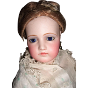 """18"""" Adult Portrait French Fashion Doll by Jumeau in Original Gown & Elaborate Hairstyle - Layaway"""