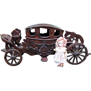 Antique Wood Doll Carriage for Mignonette Display - Layaway!