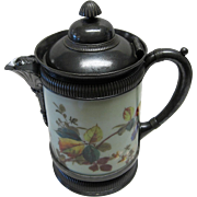 Extremely Rare Victorian Period Simpson Hall Miller Water Pitcher