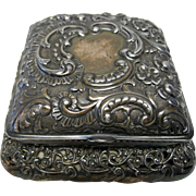 Ornate Victorian Period Pagoda Style Dresser Box With Silk Lining Made By the Wilcox Silver Plate Company