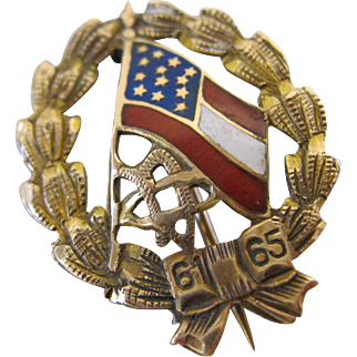 United Daughters of the Confederacy Gold Membership Pin 1898