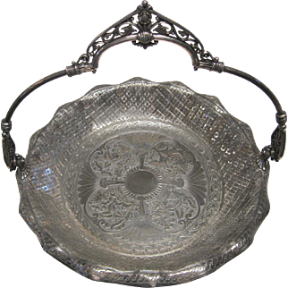 Very Ornate Victorian Period Cake Plate by James W. Tufts