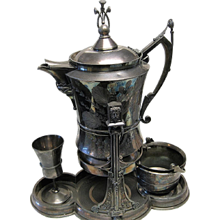 Ornate Victorian Period Mechanical Water Pitcher Patented November 5, 1867