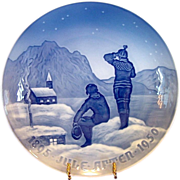 "1950 Bing & Grondahl Christmas Jubilee Plate ~ ""Eskimos "" by Achtin Friis"