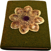 Home Decoration~Felt Cover with Gold Embellishments by Dorothy Tuke Priestman, Philadelphia: Penn Publishing Co.,1915