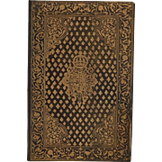 "Portfolio / Blotter Gilded Leather Cover ~ embossed ""honi soit qui mal y pense"" in a shield"