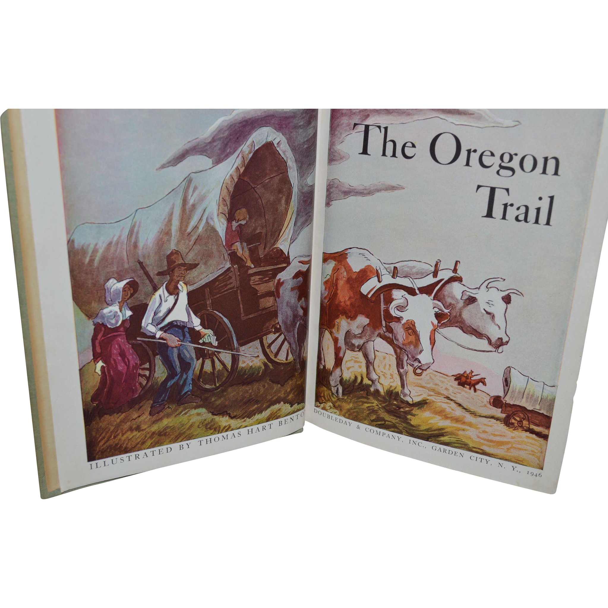 The Oregon Trail by Francis Parkman, Thomas Hart Benton (illustrator). Garden City, New York: Doubleday & Co., 1946.