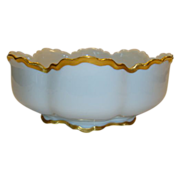 Awesome Serving Bowl ~ Limoges France ~ White and Gold ~ Haviland Limoges France 1894-1931