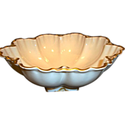 Awesome Serving Bowl ~ Limoges France ~ White and Gold ~  Marcelline Mold ~ Haviland Limoges France 1894-1931