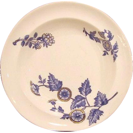 "50% OFF! (2) Serving Bowls- COPELAND FLOW BLUE - ""Ashburne"" Pattern -1850-1867"