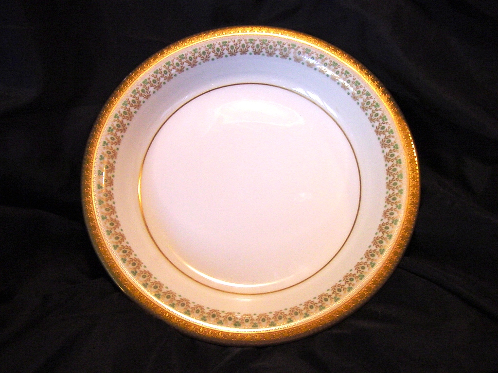 Elegant Limoges Porcelain Bowl ~ ca. 1900 Studio Decorated with Gold ~ Union Ceramics Limoges France