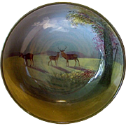 "RARE Large 9'' Deer Bowl ~ D4644 ""C"" Series Ware – Royal Doulton England 1927 - 1932"