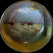 "RARE Large 9'' Deer Bowl ~ D4644 ""C"" Series Ware – Royal Doulton England 1927 - 1932"