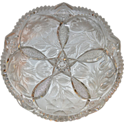 Gorgeous Tray / Low Bowl ~ Tuthill Wild Rose / Rosemere Pattern ~ American Brilliant Period ~ Tuthill ca 1910