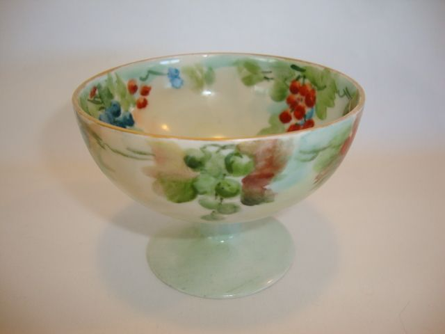Awesome French Porcelain Punch or Condiment Cups ~ Hand Painted with Grapes ~ Tressemann & Vogt Limoges France 1892-1907