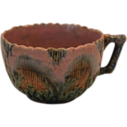 Etruscan Majolica Cup ~ Seaweed / Seashell~ Griffen, Smith, Hill prior to 1879