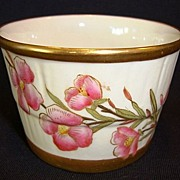 Gorgeous English Porcelain Dish ~ Ivory with Pink Flowers ~ By Royal Worcester of England 1888