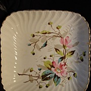 "Beautiful 10"" German Earthenware Master Bowl ~ Hand Decorated with Wild Pink Roses ~ Franz Anton Mehlem 1887-1920"