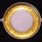 Exquisite Bavarian Two Handled Serving Dish ~ Gold Encrusted and Lilac ~ Artist Signed ~ Donatello ~Rosenthal  Selb Bavaria 1918