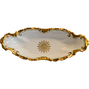 Beautiful Celery Dish ~Limoges Porcelain ~ Hand Painted ~ Latrille Freres Limoges Frances 1908-1913  Limoges, France