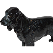 "Figurine Dog Sporting ~ Royal Doulton ~ Black Gray Cocker Spaniel  HN1021 B 3 1/2"" tall~ ""Lucky Star of Ware"" ~ ~ Frederick Daws  England 1931 to 1968."