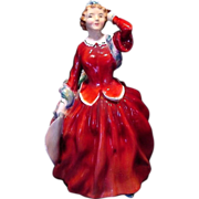 "Royal Doulton Figurine ""BLITHE MORNING""  HN2065 ~ Initialed by Artist~ Designed By Leslie Harradine 1948"
