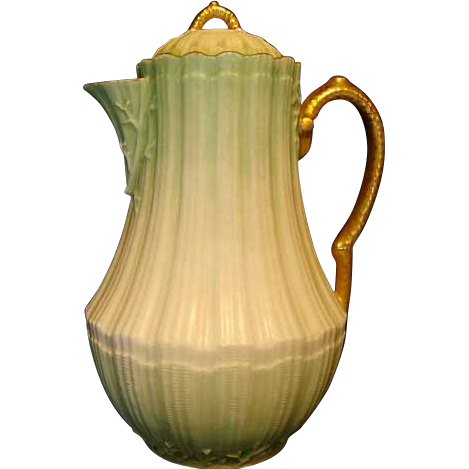 "50% OFF! Outstanding Limoges Porcelain 10"" Chocolate Pot ~ Factory Decorated ~ MRL MARTIAL REDON  Limoges ca. 1882-1890"