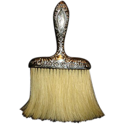 Sterling Silver Whisk or Hat Brush Vanity Item