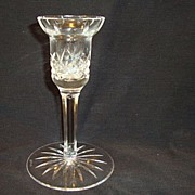 Crystal Single Light Candlestick / Candleholder ~ Lismore Pattern ~ Signed ~ Waterford Crystal 1950's