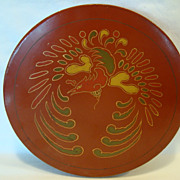 Large Round Bento Box ~ Red Lacquer ~ Decorated with Awesome Oriental Phoenix Bird ~ Trade mark Made in Japan KC