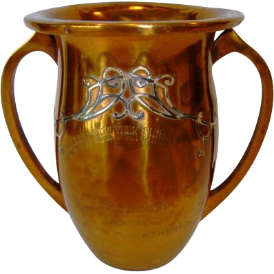 1914 award trophy, bronze and silver by Heintz Art Metal Company. Charles Morgan H.Atherton, Penn State University Alumni.