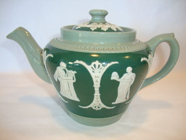 Beautiful Jasperware Teapot ~ Three Colors ~ Dudson Brothers LTD Hanley England 1898