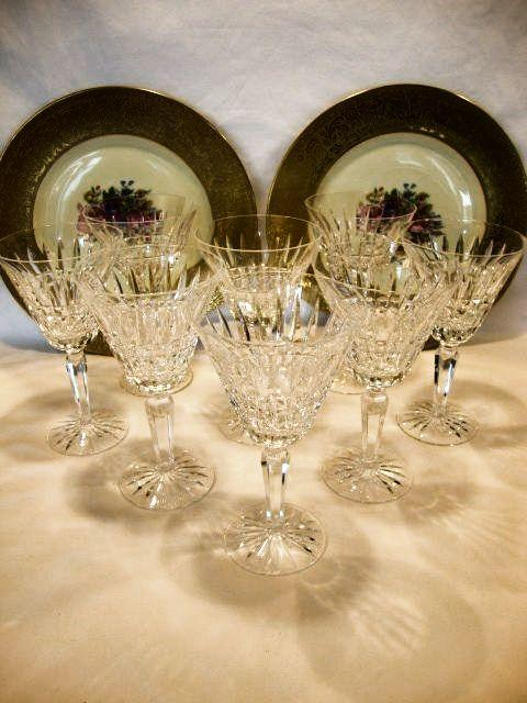 Set of 8 Waterford Lead Crystal Water Goblets ~ Glenmore Pattern ~ Waterford Crystal, Ireland 1962