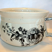 Great English Ironstone Aesthetic Chamber Pot ~ Oriental Design ~ Geisha Girl ~ Yeddo Pattern ~ Edge, Malkin & Co 9/23/1879