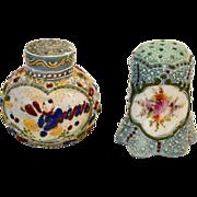 2 ~ Nice Japanese Moriage Decorate Salt Shakers