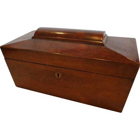 Beautiful Mahogany Veneer Document / Letter Box 1800'S