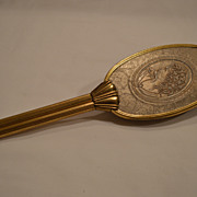 Nice Art Nouveau Hair Brush ~Embossed Lady with Flowers ~ Early 1900's