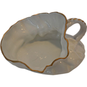 Unique Woman's Spittoon / Cuspidor ~ Limoges Porcelain ~ White with Gold~ T & V Tressemann & Vogt – Limoges France 1892-1907