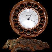 Awesome Copper Desk Clock / Wall Sconce ~ Original Handmade