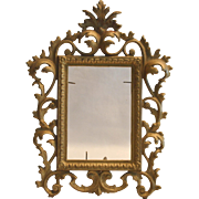 Victorian Table Top Picture Frame ~ Ornate Gilded Metal with Glass Insert and Kick-out Stand