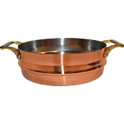 Double Boiler Insert Pan ~ Solid Copper / Stainless Steel  ~ Hard to Find ~  Paul Revere Ware Limited Edition Made in USA 1960's