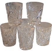 6 Tumbler / Cocktail Glasses ~ ABP Cut Crystal~ Classic Look