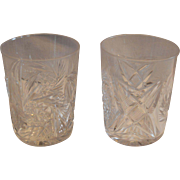 Pair Tumbler / Cocktail Glasses ~ ABP Cut Crystal~ Classic Look