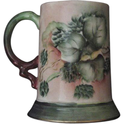 50% OFF! Limoges Porcelain Hand Painted Mug / Stein with Wonderful Unripe Berry Motif – JPL Jean Pouyat ca.-1890+